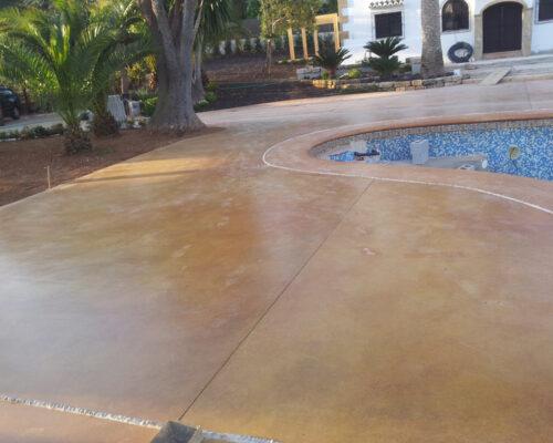 Hormigón pulido piscinas